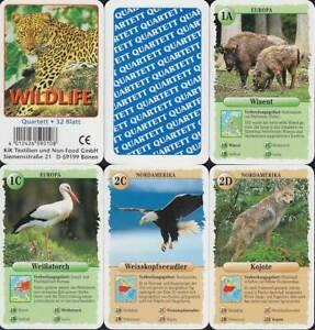 """KiK Textilien Spielkarten """"Wildlife"""" 2003 (S, Quartett-Nr. 590108) Z 0-"""