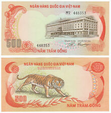South Vietnam 500 Dong, 1972, P-33, Tiger, Aunc