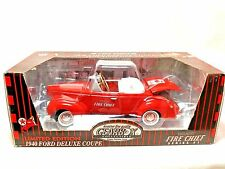 "Gearbox 1997 LE 1940 Ford Deluxe Coupe Texaco Fire Chief Gasoline Diecast 9"" Car"