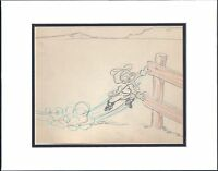 Popeye 1952 Production Animation Production Storyboard with coa Famous