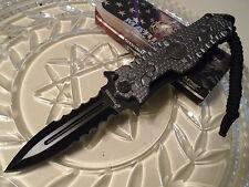 Mtech Ballistic Assisted USMC Grey Gecko Pocket Knife Dual Edge Dagger A1037GY