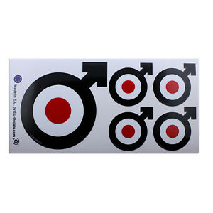 X5 Male Symbol target Mod Black Laminated Decals Stickers for Vespa GTS GTV GTL