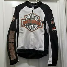 Harley Davidson Riding Gear Mesh Biker Motorcycle Jacket Bar Shield Logo Men's L