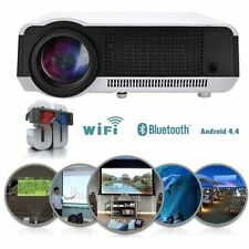 5000 Lumens Android 4.4 WIFI HD 1080P LED 3D AV HDMI TV Home Theater Projector