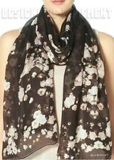 GIVENCHY black BABY'S BREATH silk Chiffon rectangular Scarf NEW Authentic $440!