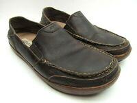 Olukai Puhalu Mens Brown Leather Moc Toe Loafers Size US 10