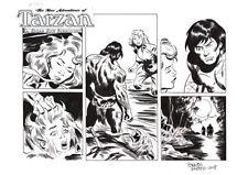 TARZAN ORIGINAL COMIC ART BY BENITO GALLEGO. THE AFTERMATH!