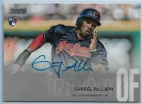 2018 Topps Stadium Club Greg Allen On-Card Rookie Auto #SCA-GA Indians Padres RC