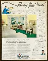 1948 Mengel Permanized Furniture Print Ad A Designer's Been Reading Your Mind