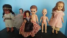 LOT 6 small ANTIQUE Vintage CELLULOID Plastic DOLLS French MAID STORYBOOK STAR