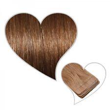 10 Tape-On-Extensions goldbraun #07 35 cm Echthaar Tressen Haarverlängerung