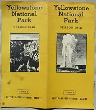 1948 Yellowstone National Park Hotel Lodges Tourist Cabins vintage brochure b
