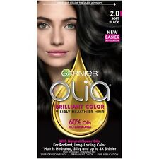 Garnier Olia Oil Powered Permanent Hair Color, 2.0 Soft Black