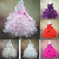 Baby Flower Girl Princess Birthday Formal Wedding Junior Bridesmaid Tutu Dress