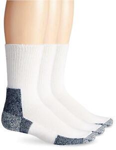 Thorlos Unisex XJ Running Thick Padded Crew  Sock, White (3, White, Size Large