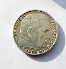 More details for 1938 f germany 5 mark silver coin