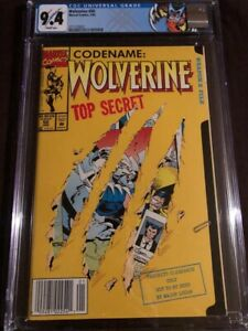 Wolverine #50 CGC 9.4 NEWSTAND!! White pages! Custom label!!