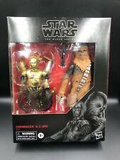 "Star Wars Black Series CHEWBACCA & C-3PO Amazon Exclusive 6"" Action Figures"