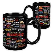 Famous Headbangers - 15 Ounce Sublimation Mug -Metallica, Anthrax, Slayer, Prong