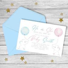 He or She | Blue or Pink| Baby Shower | Gender Reveal | Invitation