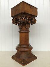 Stunning Gothic Church Altar Corinthian Pedestal/Stand/console in oak nr2