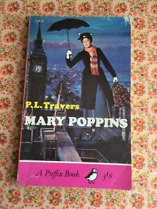 Vintage Puffin Paperback Book Mary Poppins P.L. Travers Children's Classic 1960s
