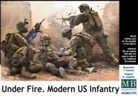 Master Box — US FANTERIA UNDER FIRE — Modellino Plastica KIT 1:3 5 SCALA