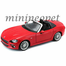 BBURAGO 18-21083 FIAT 124 SPIDER COUPE 1/24 DIECAST MODEL CAR RED