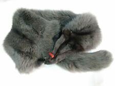 collo stola scialle pelliccia volpe colore grigio da lavorare