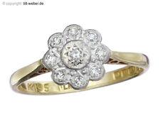 """Ring Antik """"Besatzdiamanten"""" Platin und 750er Gelbgold England ca. 1900-20"""