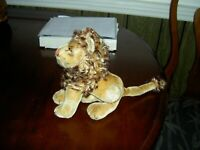 "VINTAGE 1950's STEIFF 9"" SITTING ""LEO"" MOHAIR COLLECTOR LION VERY NICE Germany"