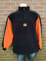 Mens NFL CINCINNATI BENGALS FOOTBALL 3/4 Zipper Jacket Size L
