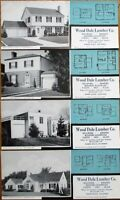 Wood Dale, IL 1948 Advertising Blotters - SET OF FOUR w/Home Plan - Lumber