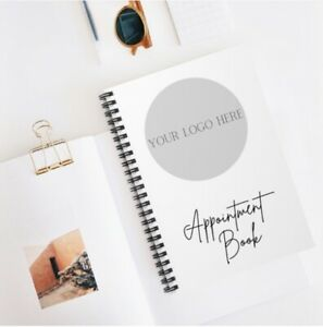 Logo / Personalised Appointment Book, Business Appointment Book A5