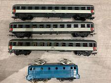 Train Jouef  Lima //ho 1 Motrice Sncf BB 9004 Jouef + 3 Wagon Lima (lot555//BIS)