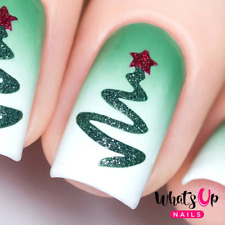 Ribbon Tree Stencils for Nails, Christmas Nail Stickers, Nail Art, Nail Vinyls