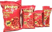 Vitner's Multisize Sizzlin' Hot Cheese Crunchy Curls 8 Pack A Chicago Original