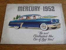 MERCURY 1952  SALES BROCHURE