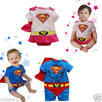 Baby Boy Superman Fancy Dress Costume Babygrow Outfit 6 months- 2 years