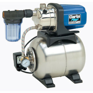 """Clarke BPT1200SS 1"""" Stainless Steel Electric Water Pump Pressure Booster 1200W"""
