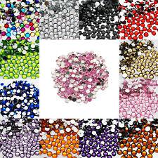 1000 Crystal Flat Back Acrylic Rhinestones Gems Diamond Wedding Party Table Light Pink 1