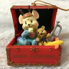 New listing Mouse in Toy Chest Christmas Tree Ornament Traditions Holiday Christmas Gift New