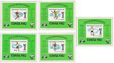 Togo Football World Cup 1982 1981 SET RARE SHEETS Mi BL 177-181 MNH 50 EURO.