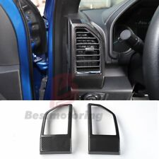 Carbon Fiber Inner Dashboard Side Air Vent Cover Trim For Ford F150 2015-2018