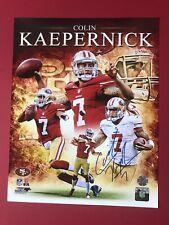 COLIN KAEPERNICK AUTOGRAPHED 11x14 PHOTOFILE NFL 49ERS