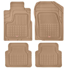 Car Floor Mats Motor Trend Beige Odorless Rubber Semi-Custom Auto Truck Suv Van (Fits: Commercial Chassis)