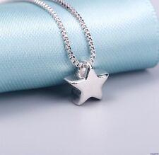 091 Damen Halskette mit Anhänger Stern 925 Sterling Silber Glänzend NEU