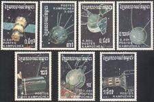 Kampuchéa 1987 la exploración del espacio/satélites/comunicaciones/cohetes 7 V Set b7359