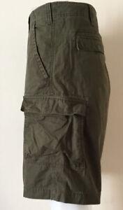 BIG Mens Timberland Cargo Combat Shorts Size XL W40 Khaki Excellent Condition