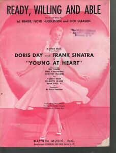 Ready Willing and Able 1954 Doris Day Frank Sinatra Young At Heart Sheet Music